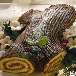 Tronchetto Di Natale Al Cioccolato Fondente.Tronchetto Di Natale Al Cioccolato